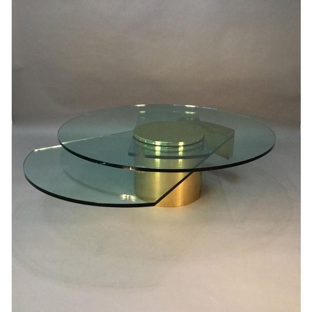 Image of Dakota Jackson Self Winding Brass & Glass Table