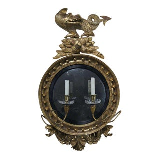 English Regency Convex Mirror