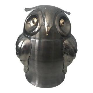 Mid-Century Owl Ice Bucket