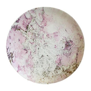 Large Pink & Gold Sascha Brastoff Platter