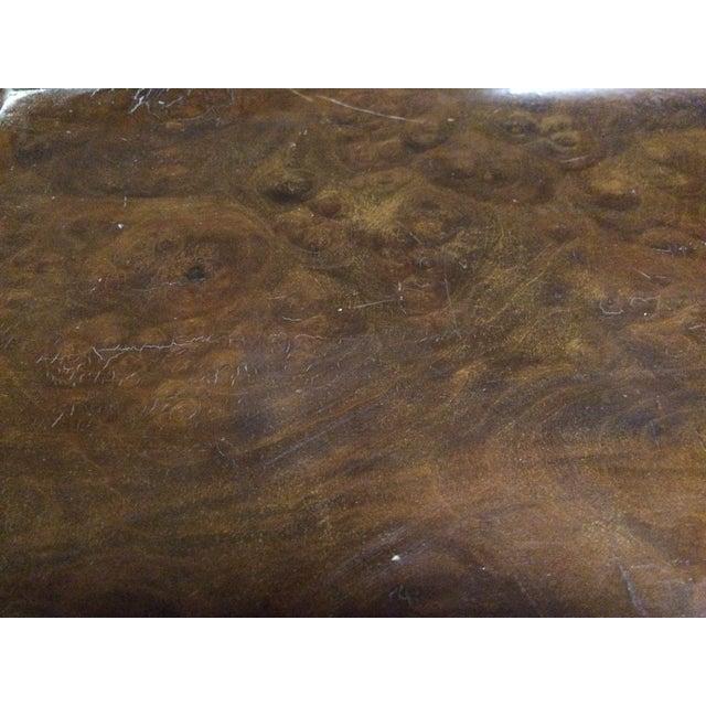 Italian Cabriolet European Walnut Side Table - Image 4 of 8
