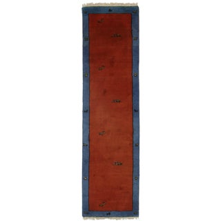 Hand Knotted Gabbeh Style Runner - 2′8″ × 9′10″