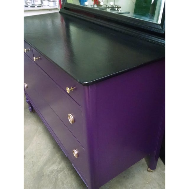 1950s Vintage Dresser With Mirror - Image 3 of 10