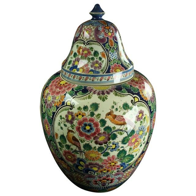 Large 1940s Vintage Majolica Ginger Jar - Image 1 of 8