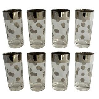 Dorothy Thorpe Silver Rim Polka Dot Glasses - Set of 8