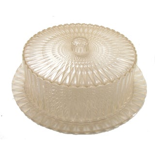 Mid-Century Sunburst Cake Tray