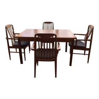 Danish Mid-Century Modern Benny Linden Expandable Dining Set