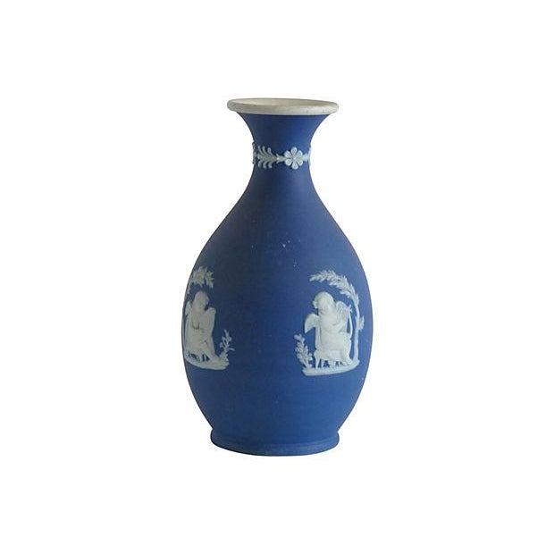 Wedgwood English Blue Porcelain Vase - Image 3 of 4