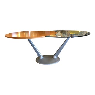Custom Italian Wood & Metal Expanding Table