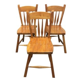 Custom Solid Maple Dining Chairs - Set of 3