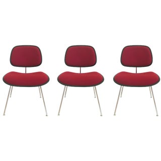 Herman Miller Eames DCM Upholstered Chairs - Set of 3