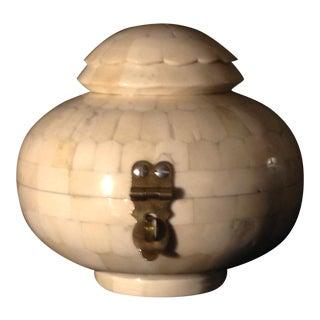 Round Bone Inlaid Box