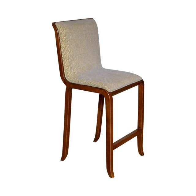 Image of Modern Solid Maple Barstool