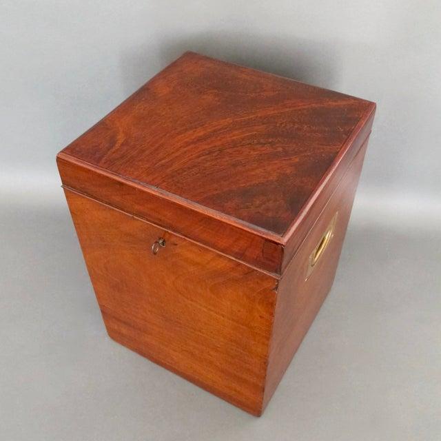 Image of Antique English Mahogany Wine Box