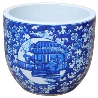 Blue & White Chinese Ceramic Planter