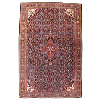Fereghan Sarouk Carpet with Blue Field