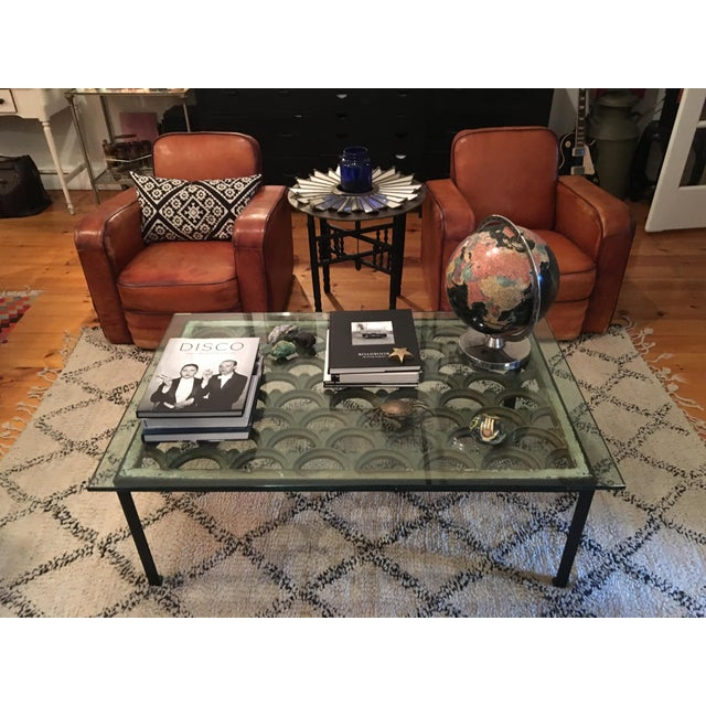 Industrial Iron & Glass Top Coffee Table - Image 4 of 5