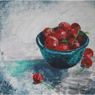 Impressionist Cherry Still Life by C. Plowden