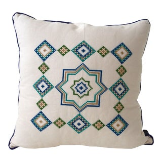 Mexican Crossed Stitched Folk Pillow Case