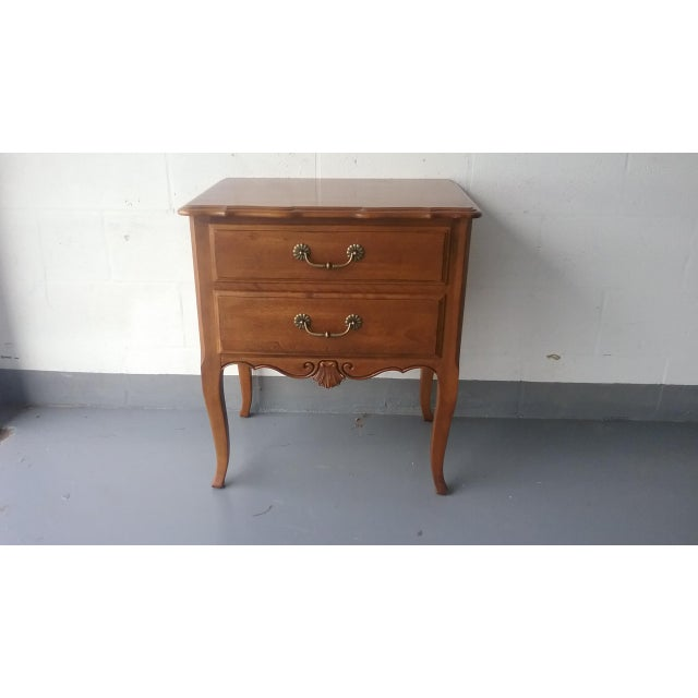 Ethan Allen French Country Nightstand Chairish - French country nightstand