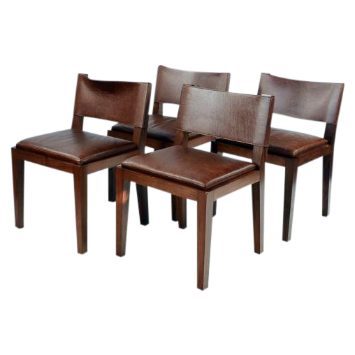 Hudson Furniture NYC Leather Chairs Set of 4