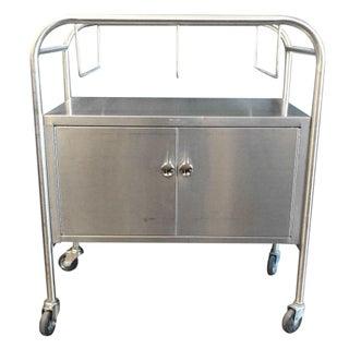 Vintage Stainless Steel Industrial Cart