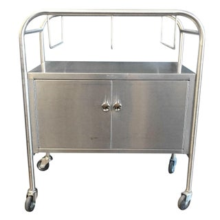 Vintage Stainless Steel Industrial Cart