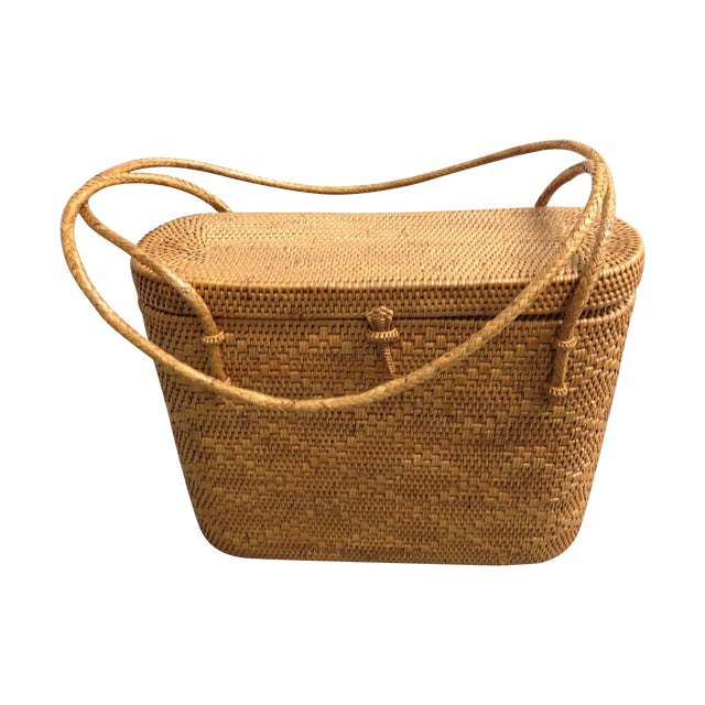 Image of Vintage Woven Basket Purse