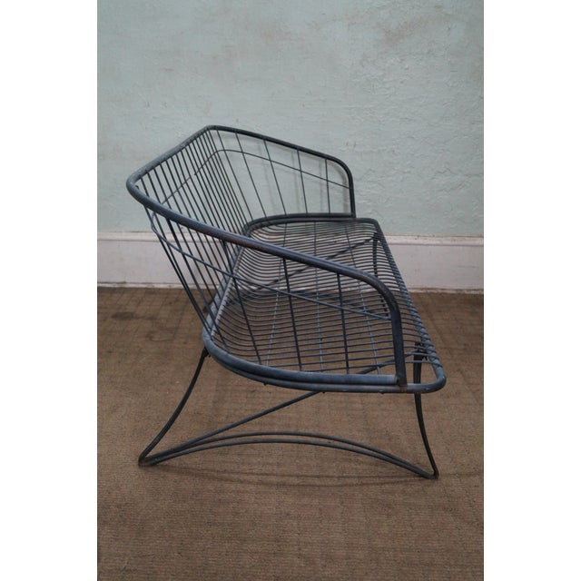 Image of Homecrest Midcentury Modern Wire Metal Loveseat