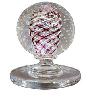 Mid Century Pairpoint Art Glass Paper Weight