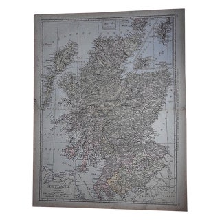 "Antique Map of Scotland-27.5""x21.25"""