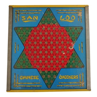 Vintage Chinese Checkers Room Wall Hanging