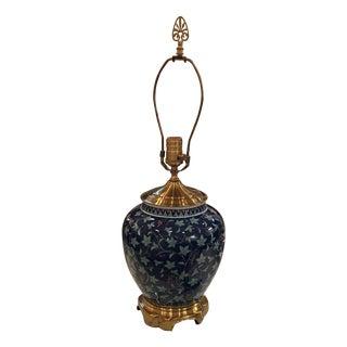 Wildwood Blue Ceramic & Brass Table Lamp