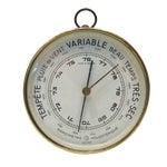 Vintage French Brass Barometer