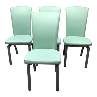Faux Leather Dining Chairs - Set of 4