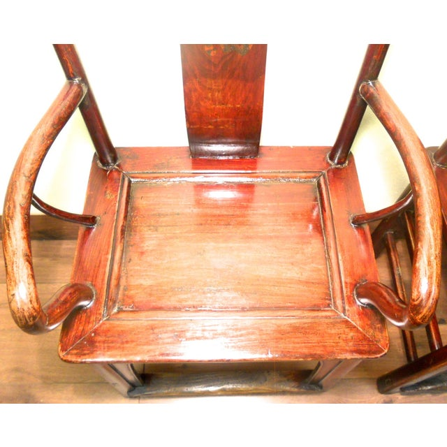 Antique Chinese Ming Armchairs - A Pair - Image 4 of 9