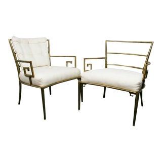 Weiman Warren Lloyd Brass Lounge Chairs - A Pair