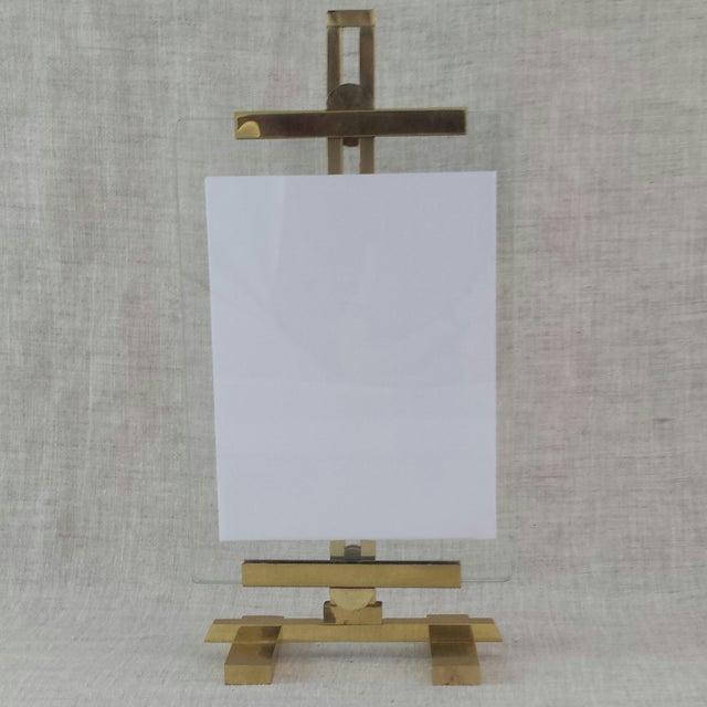 Image of Adjustable Artwork & Photography Brass Easel