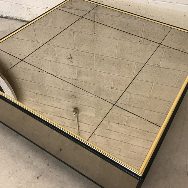 Smoke Bronze Mirror Cube Coffee Table - Image 5 of 11