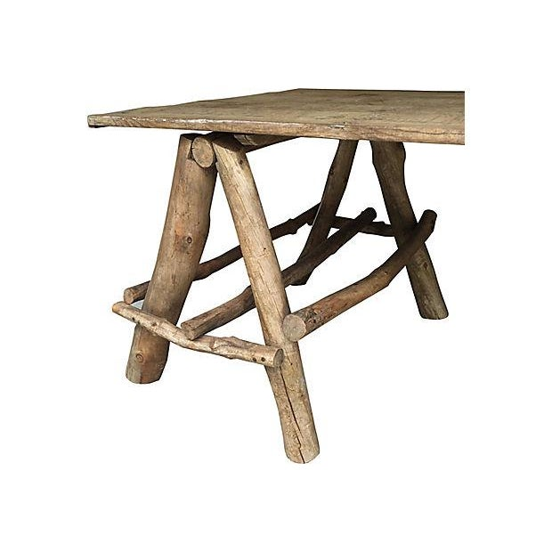 French Rustic Farmhouse Style Table - Image 2 of 4