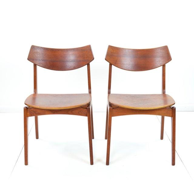 Erik Buck Vintage Danish Modern Teak Dining Chairs - Pair - Image 2 of 9