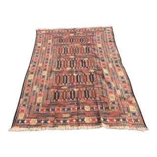 "Vintage Persian Soumak Flat Weave Rug - 8′2"" × 9′10″"