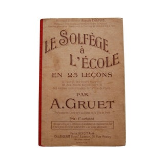 Antique French Sheet Music School Book