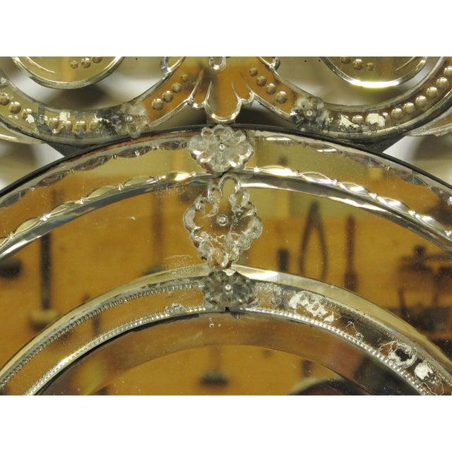 Venetian Cut Glass Wall Mirror - Image 6 of 8