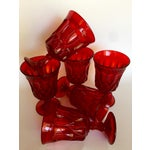 Image of Mid-Century Ruby Red Goblets - Set of 6