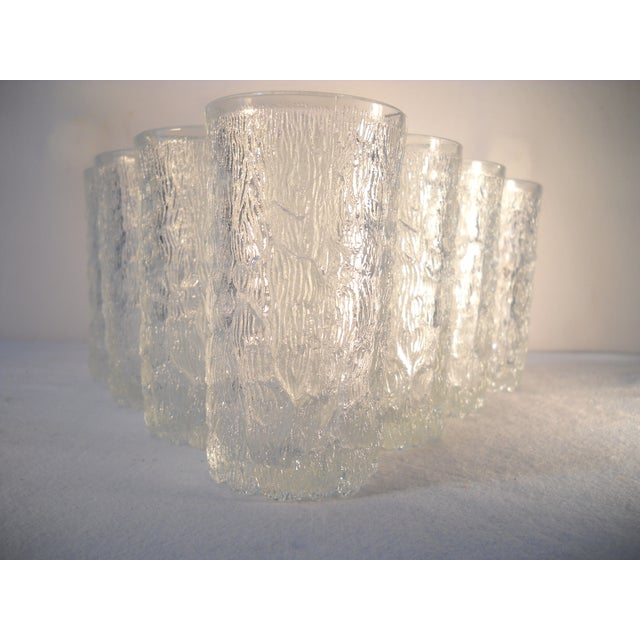 Danish Modern Ice-Textured Glasses - Set of 10 - Image 4 of 8