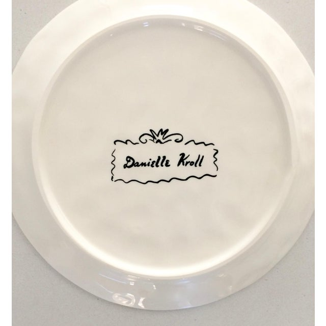"Danielle Kroll ""Sardine"" Pictorial Dessert Plates - A Pair - Image 3 of 4"