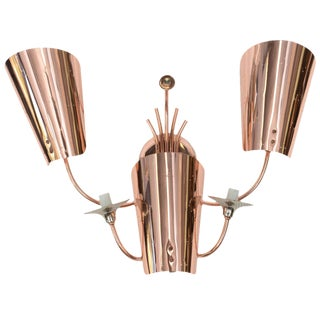 Polished Copper Wall Sconce