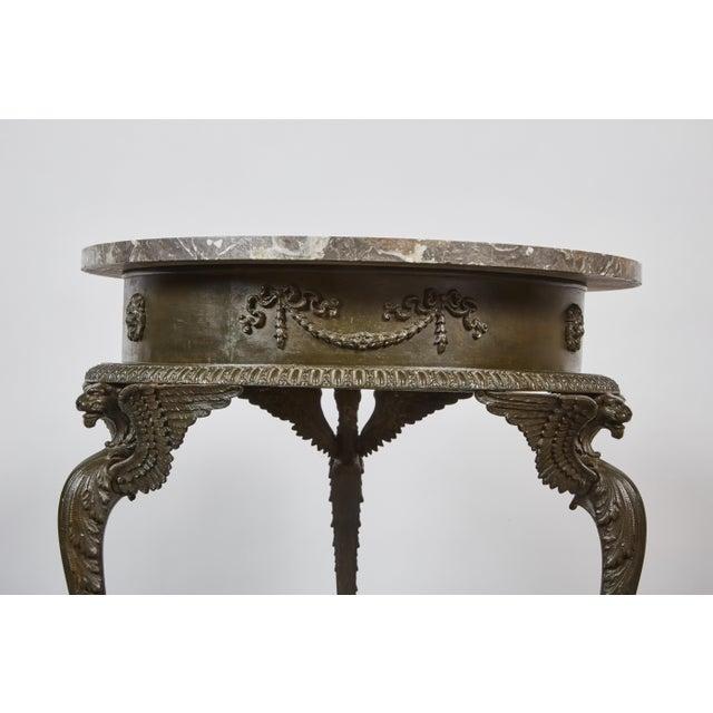 Mid 19th Century three-legged Italian Dark Gray Marble Top Gueridon Table - Image 3 of 7