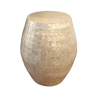 Capiz Shell Side Drum Table